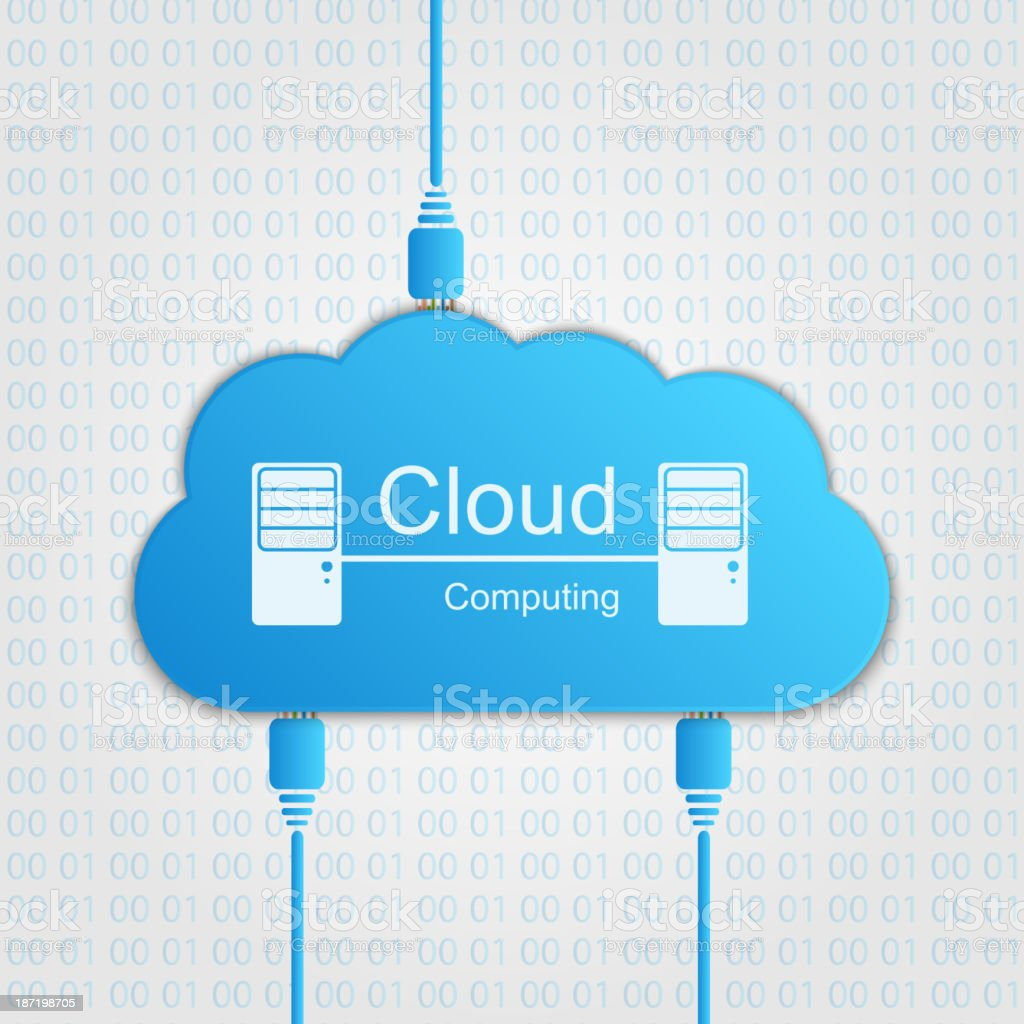 Vector cloud computing concept. Modern design template. royalty-free vector cloud computing concept modern design template stock vector art & more images of advice