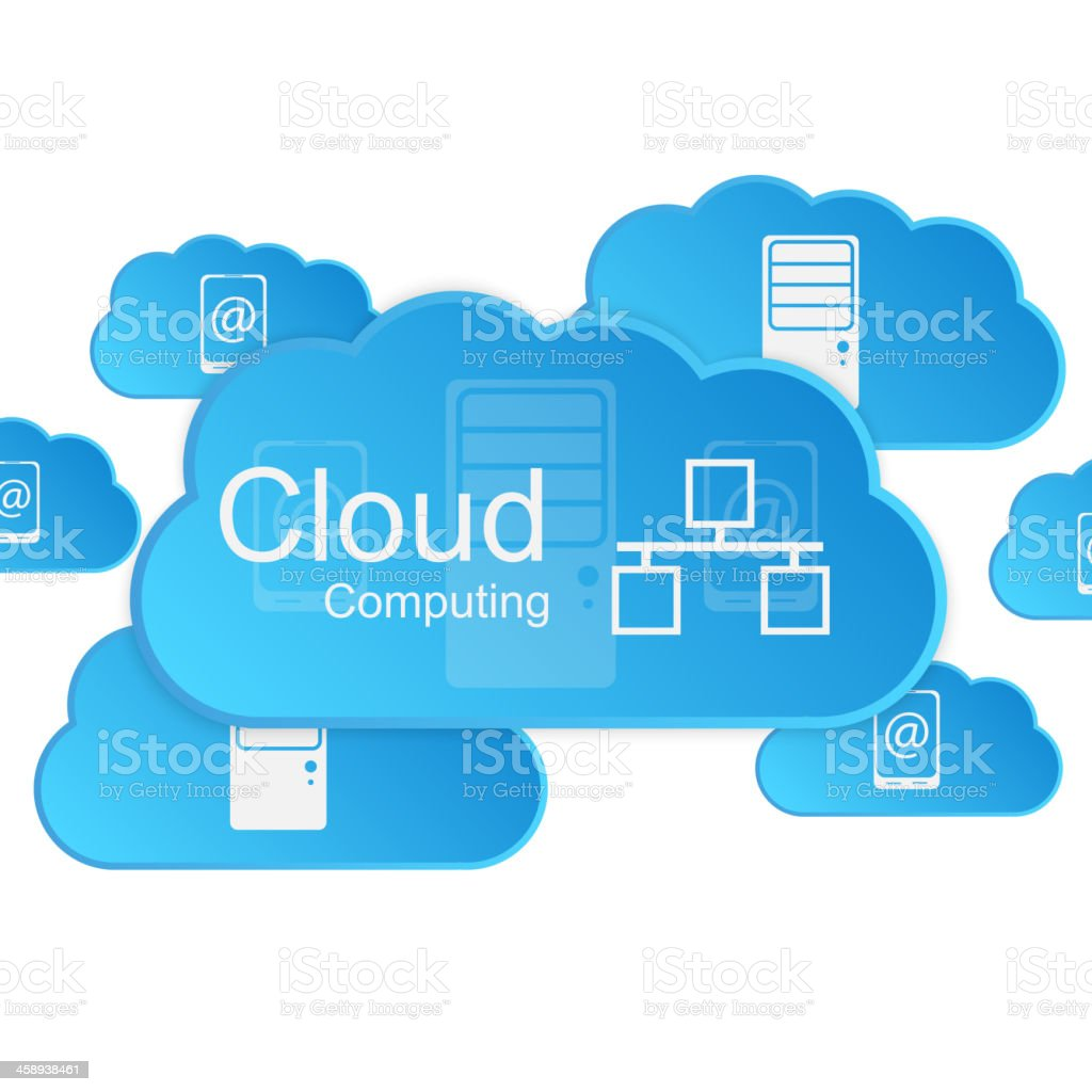 Vector cloud computing concept. Modern design template. vector art illustration