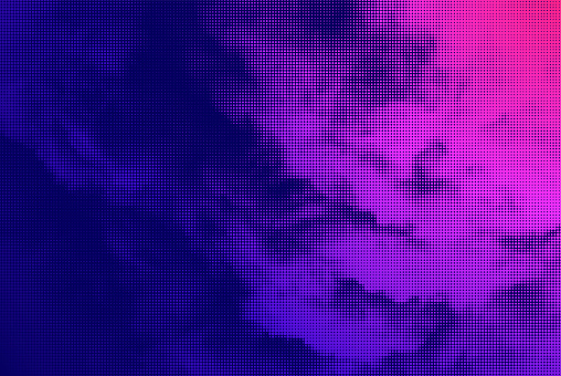 Vector Cloud Halftone Background