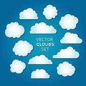 Vector clouds set