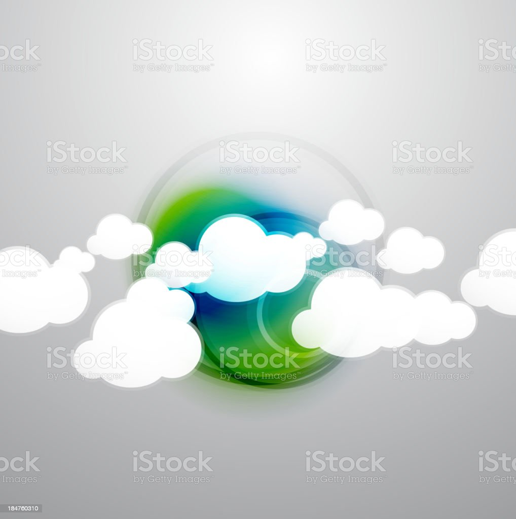 Vector clouds technology design royalty-free stock vector art