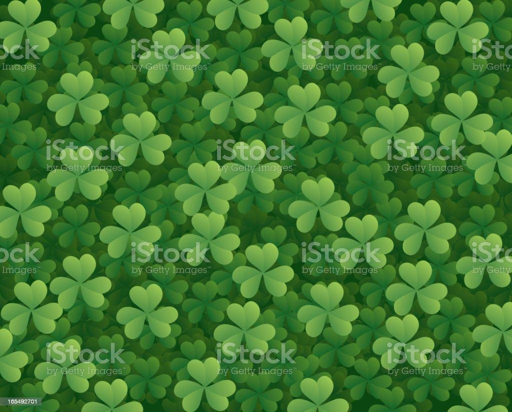 Vector clover background, good luck! royalty-free stock vector art