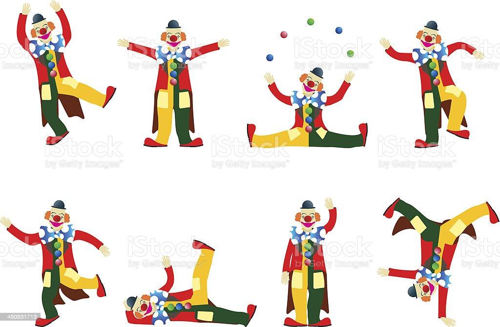 Vecteur clowns - Illustration vectorielle