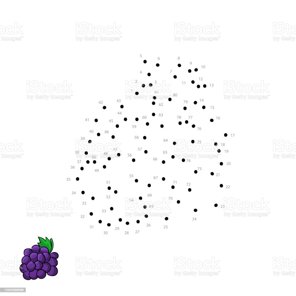 Vector Cluster Wine Grapes For Kids Drawing Child Educational Game ...