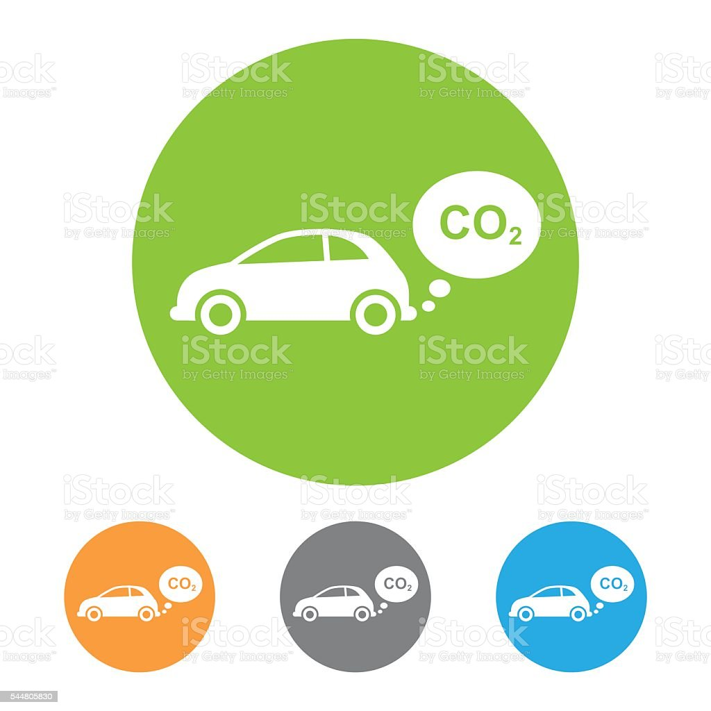 Vector CO2 emissions icon vector art illustration