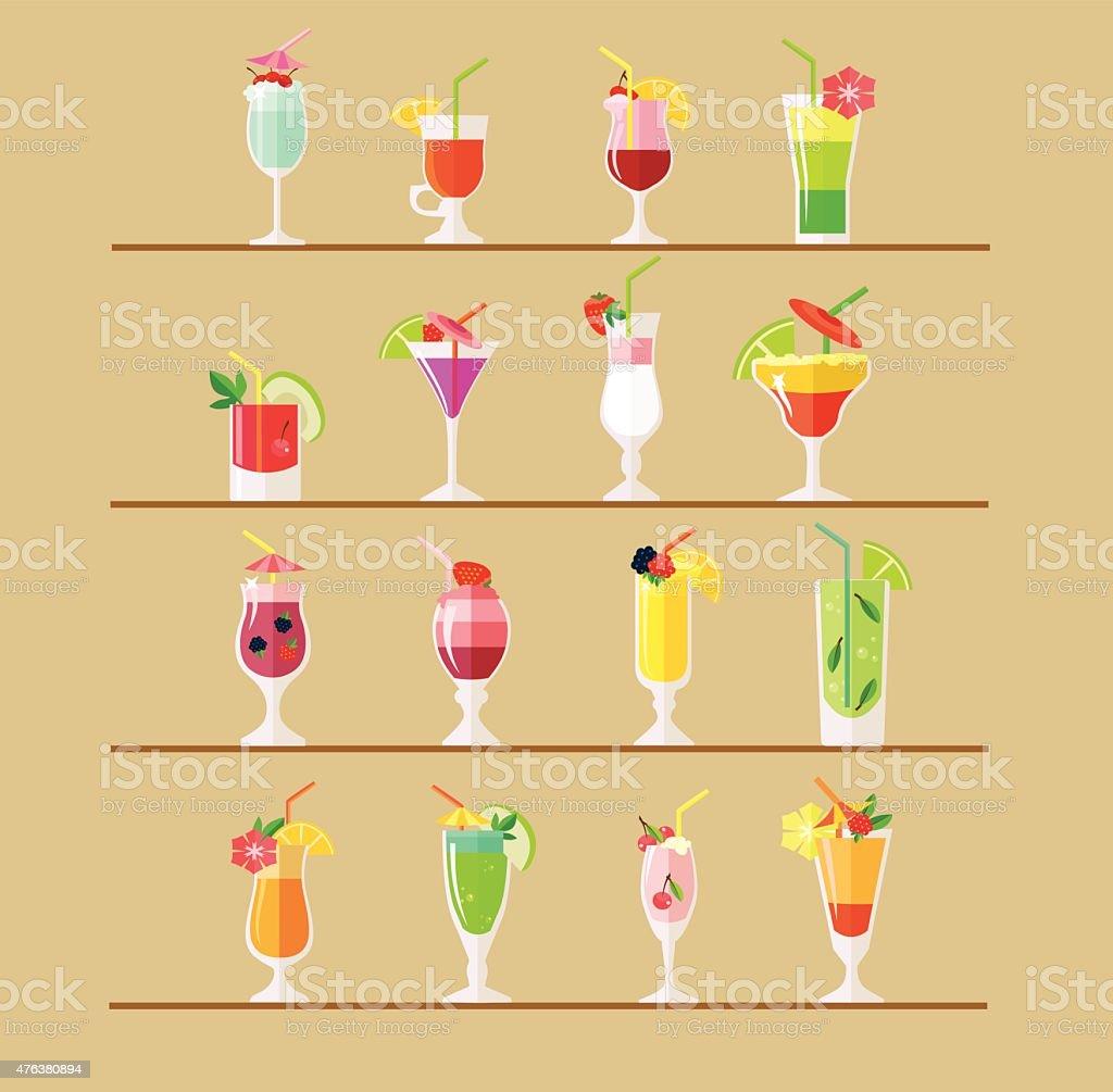 Vector cocktail flat illustration vector art illustration