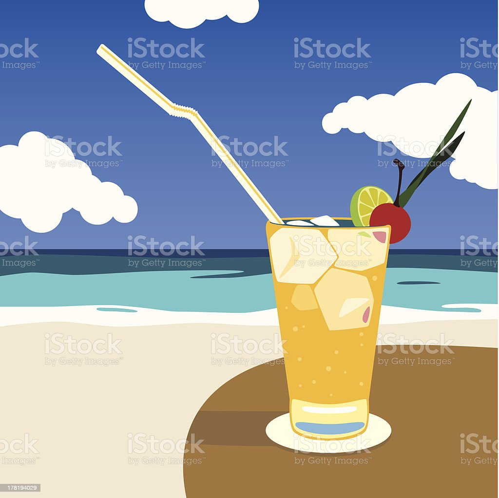Vector coctail on beach royalty-free vector coctail on beach stock vector art & more images of beach