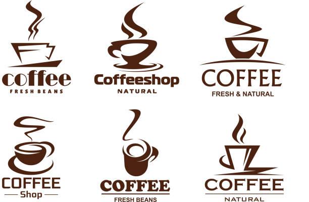 ilustrações de stock, clip art, desenhos animados e ícones de vector coffee cups icons for coffeeshop cafe - coffe shop