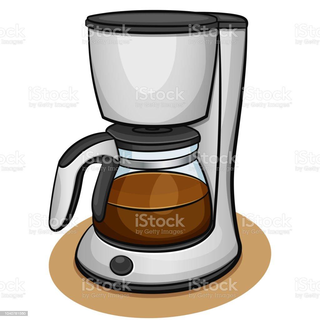 Vector Coffee Machine Design Concept Stock Illustration ...