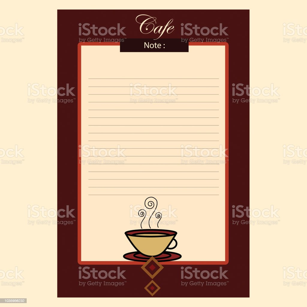 vector coffee shop notes stock vector art more images of abstract
