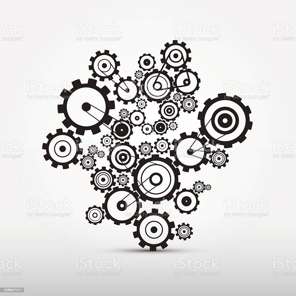 Vector Cogs - Gears Illustration vector art illustration