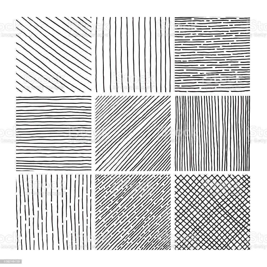 Vector collection ink hand drawn hatch texture vector art illustration