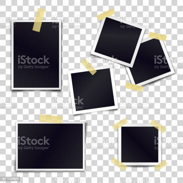 Vector collection of blank photo frames sticked on duct tape to vector id877037620?b=1&k=6&m=877037620&s=612x612&h=hrvseuicpl9gisg5nv9buhyaqymtuc3nyzxtre7aer8=