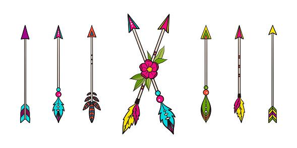 Vector collection of boho arrows.
