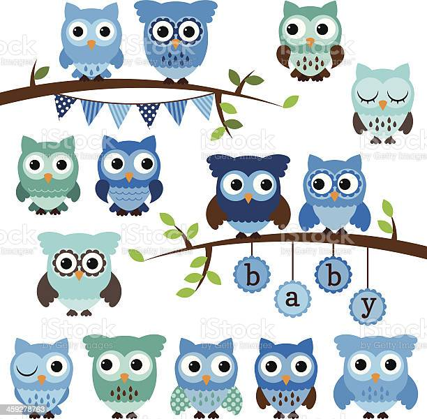 Vector collection of boy baby shower themed owls and branches vector id459278763?b=1&k=6&m=459278763&s=612x612&h=y yxecywugqg j 5g75c8fhhc4ziuujwo1upztrioha=
