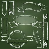 istock Vector Collection of Chalkboard Style Banners 874205348