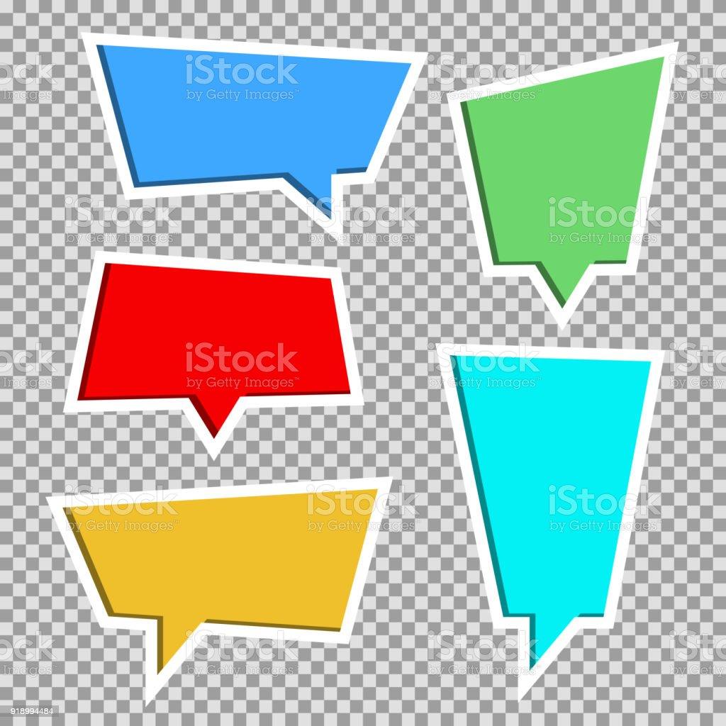 Colección de vectores de papel de color cortado de burbujas de discurso 1162e51e14a3