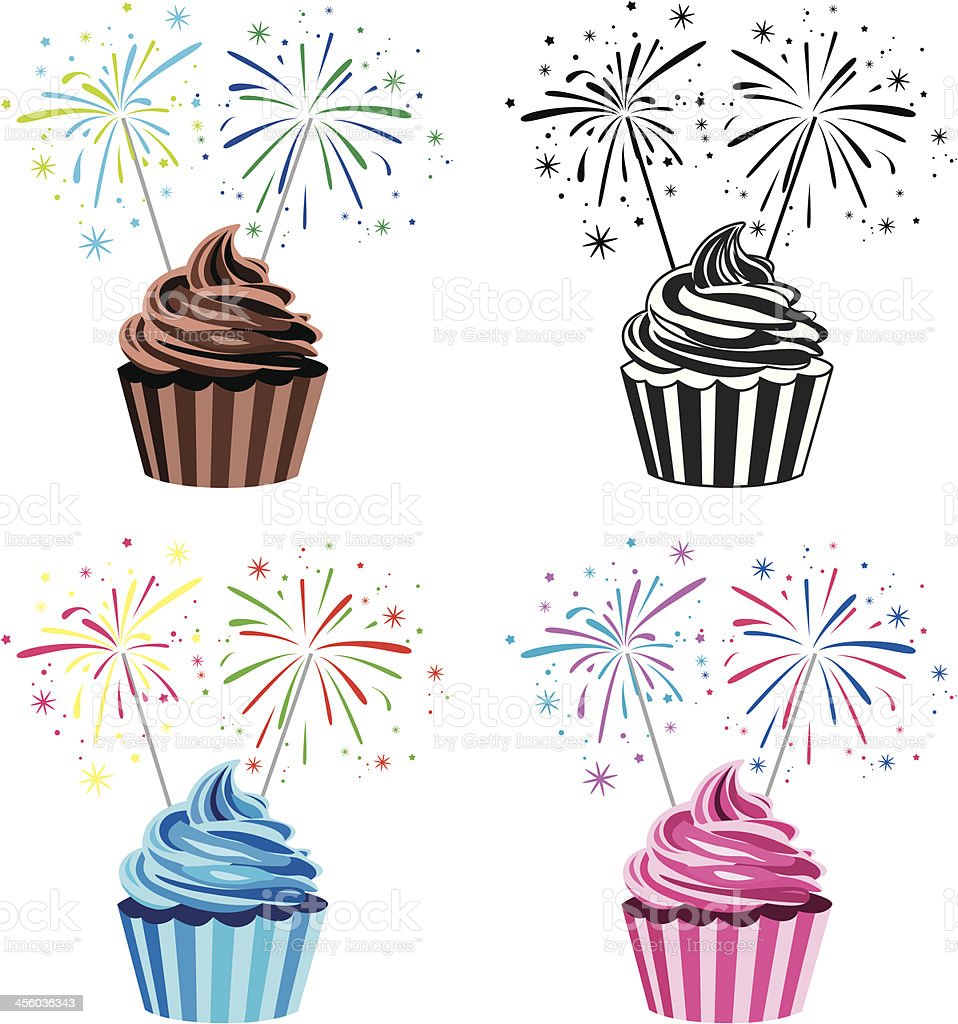 vector collection of cupcakes vector art illustration