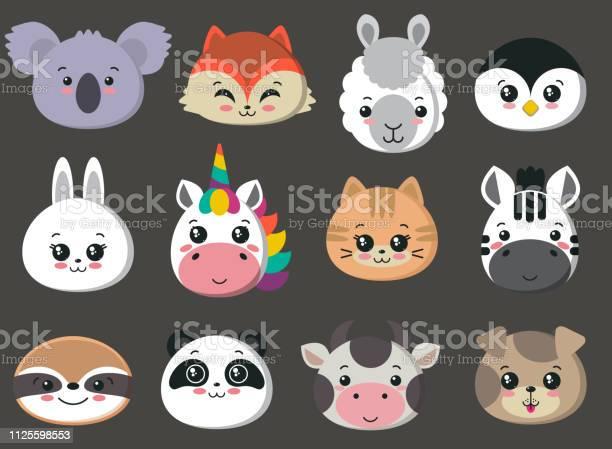 Vector collection of cute animal faces big icon set for baby design vector id1125598553?b=1&k=6&m=1125598553&s=612x612&h=l1aex slyv yxoeaybpvllimmletqmj5dszr0jlmqe8=