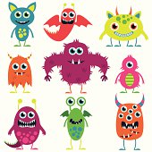 istock Vector Collection of Cute Monsters 186312039