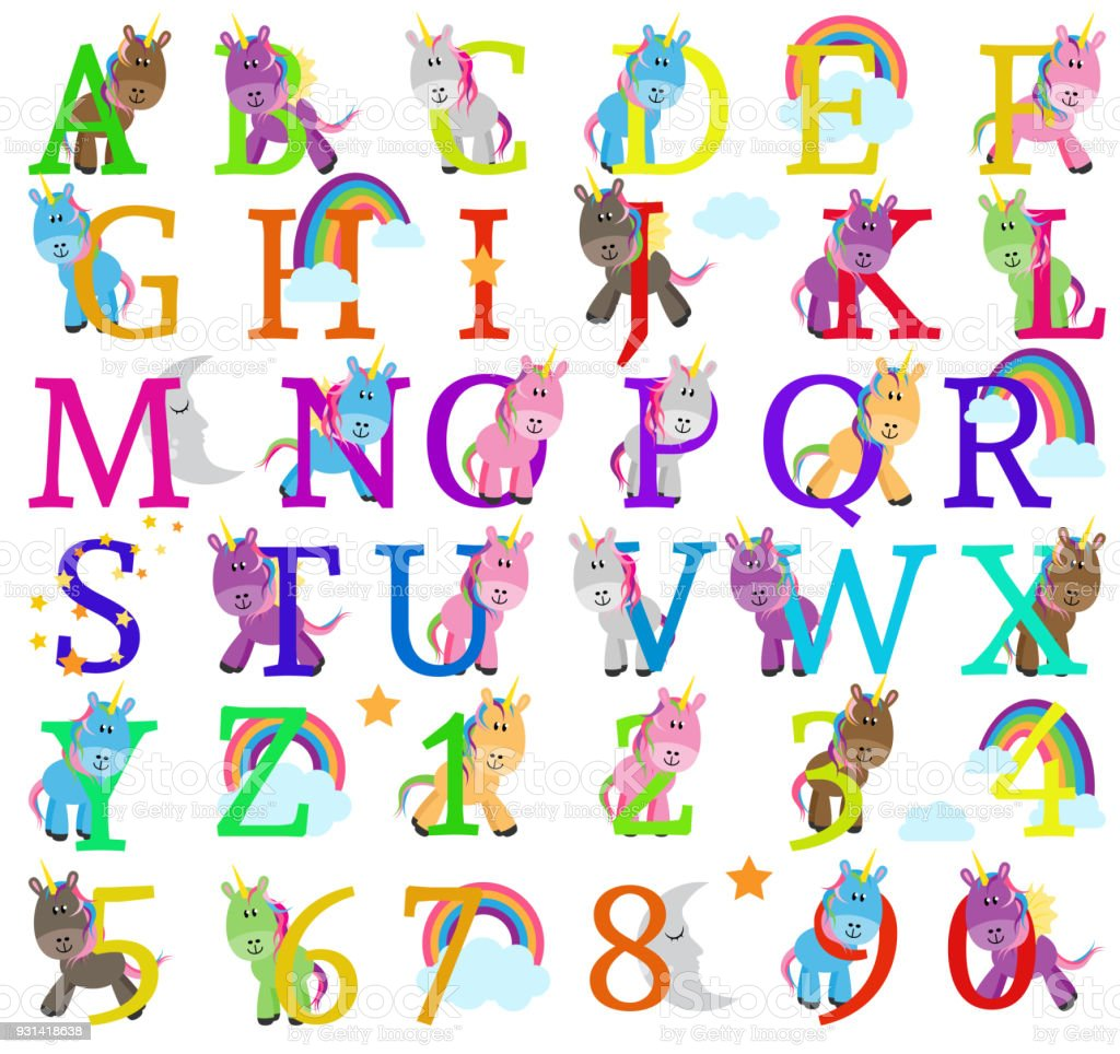 Vector collection of cute unicorn themed alphabet letters stock vector collection of cute unicorn themed alphabet letters royalty free vector collection of cute unicorn gumiabroncs Choice Image