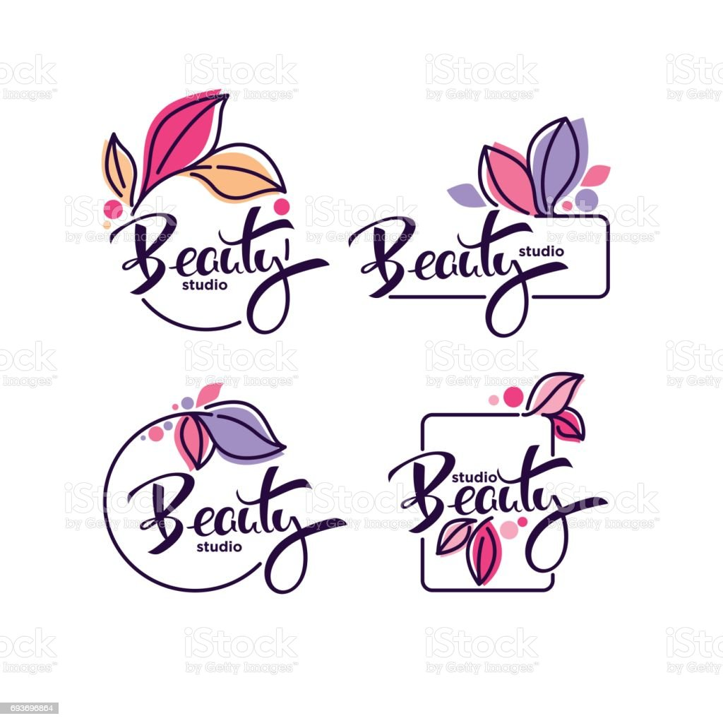 vector collection of doodle flowers emblems frames and icon - Grafika wektorowa royalty-free (Baner)