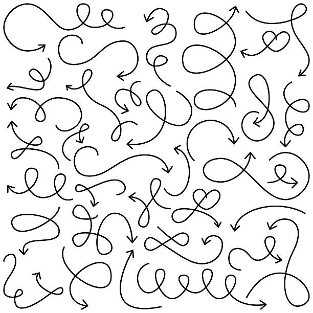 Vector Collection of Doodled Squiggly Arrows Vector Collection of Doodled Squiggly Arrows. No transparencies or gradients used. Large JPG included. Each element is individually grouped for easy editing. squiggle stock illustrations