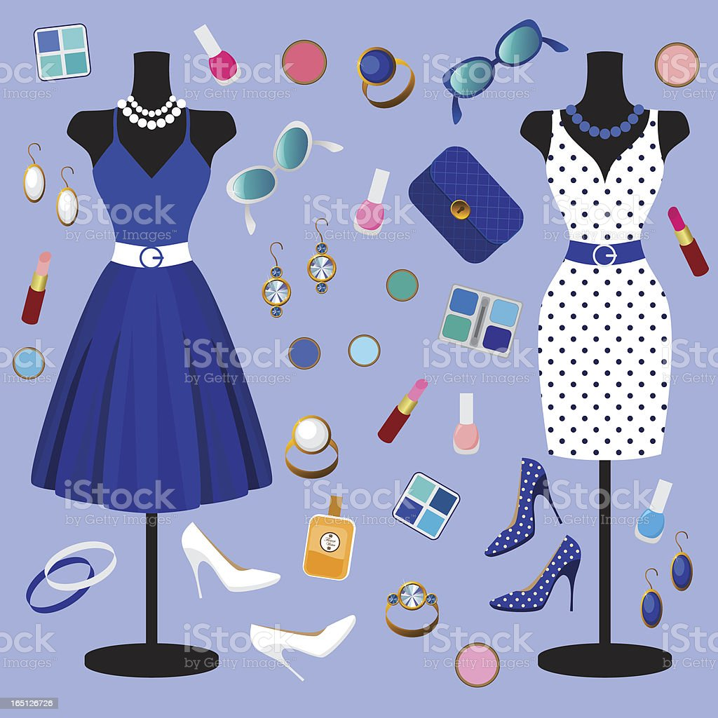 vector collection of fashion clothes royalty-free vector collection of fashion clothes stock vector art & more images of adult