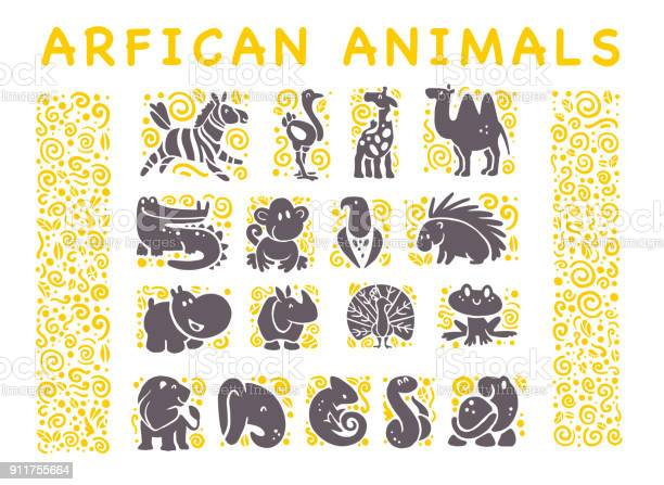 Vector collection of flat african cute animal icons isolated on white vector id911755664?b=1&k=6&m=911755664&s=612x612&h=1rhbp2djmdrqvuanx4appo4877oqtr20notvtmjy7fg=