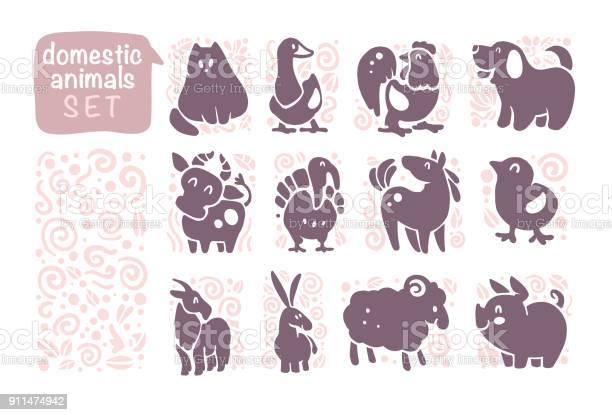 Vector collection of flat domestic cute animal icons isolated on vector id911474942?b=1&k=6&m=911474942&s=612x612&h=rt1dg iq6pfnsh8e9uvp7j lbz8veqd3jpbrlscwqaw=