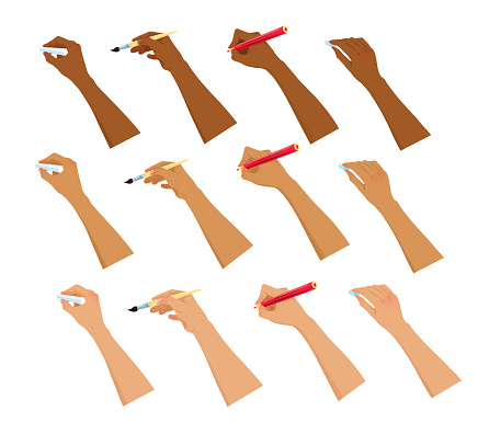 Vector collection of hands