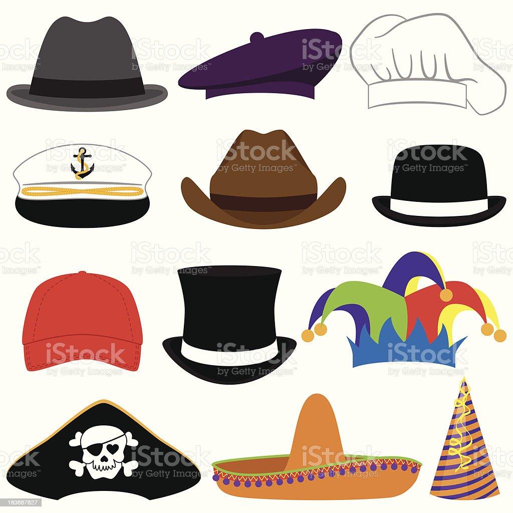 Colección de Vector de sombrero o accesorios de fotos - ilustración de arte vectorial