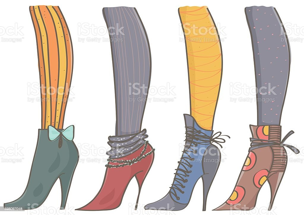 Heels Vektor With Stock Vector Collection High Stockings Of Boots NkOP0w8nX
