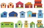 Vector collection of houses