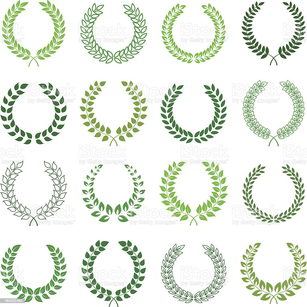 vector collection of laurel wreaths royalty-free vector collection of laurel wreaths stock vector art & more images of antiquities