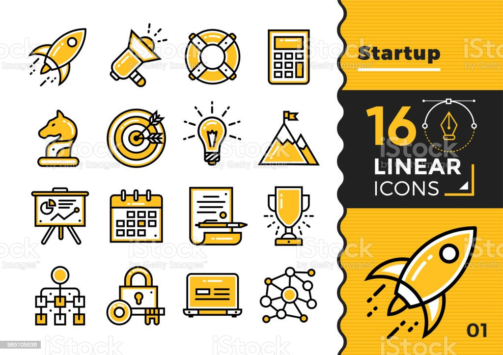 Vector collection of line icons for startup business. High quality modern pictograms for mobile concepts and web design. vector collection of line icons for startup business high quality modern pictograms for mobile concepts and web design - stockowe grafiki wektorowe i więcej obrazów bez ludzi royalty-free
