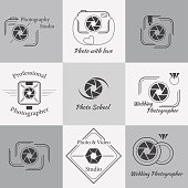 Vector collection of photography logo templates