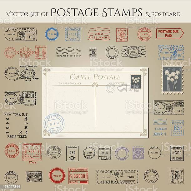 Vector collection of postage stamps and postcard vector id176227344?b=1&k=6&m=176227344&s=612x612&h=xx583lbez8jxvbin1fbuiwfxcbac2d1tnmykyj4tkqe=
