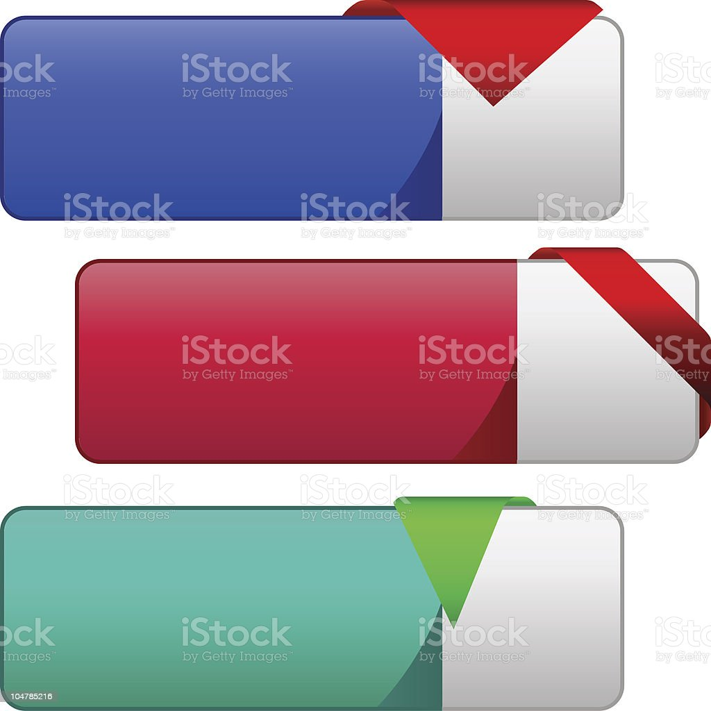 Vector collection of sale banners. royalty-free stock vector art
