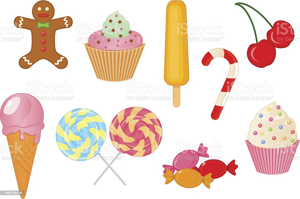 vector collection of sweets royalty-free stock vector art