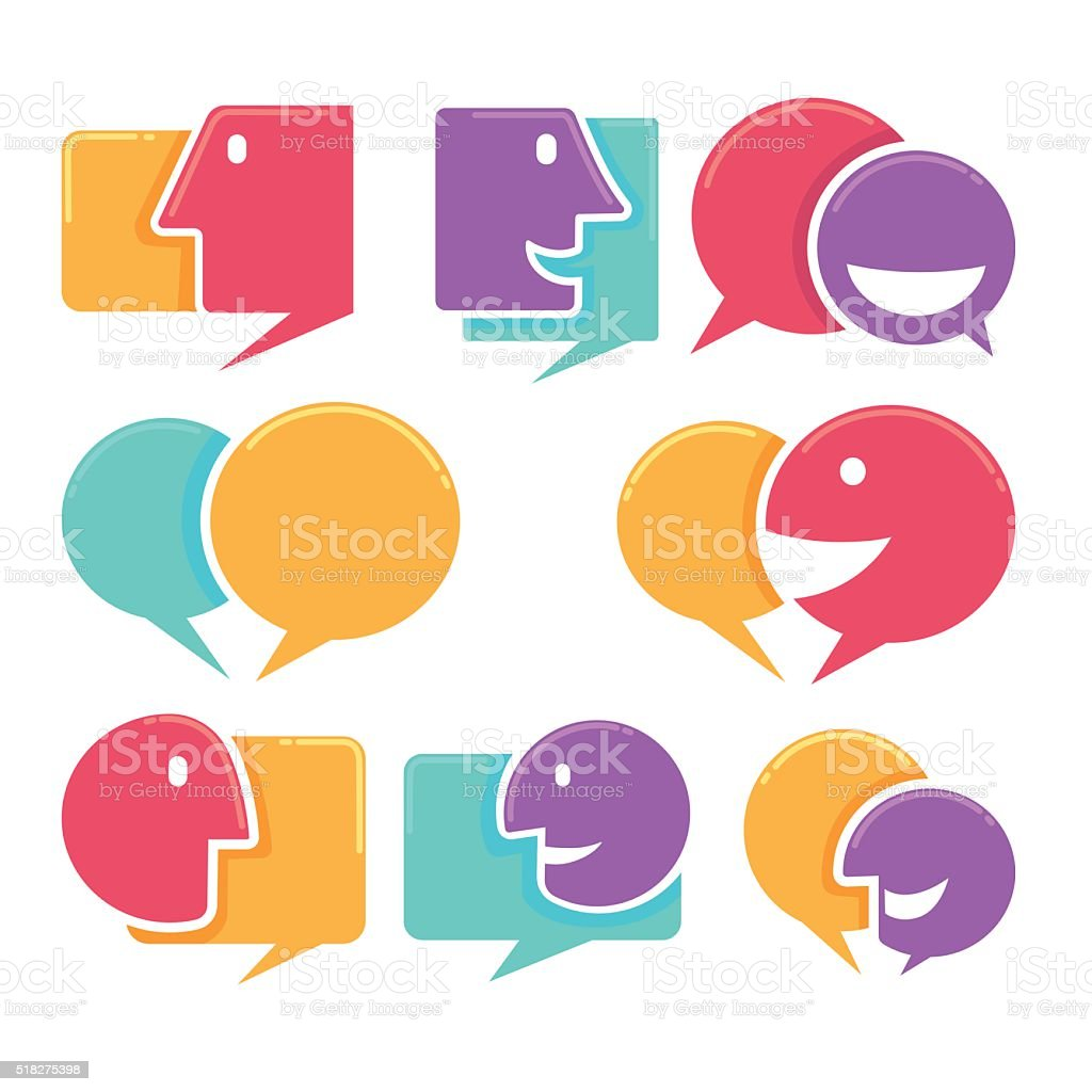 Vector Collection Of Talking Speaking And Communication Icons Signs