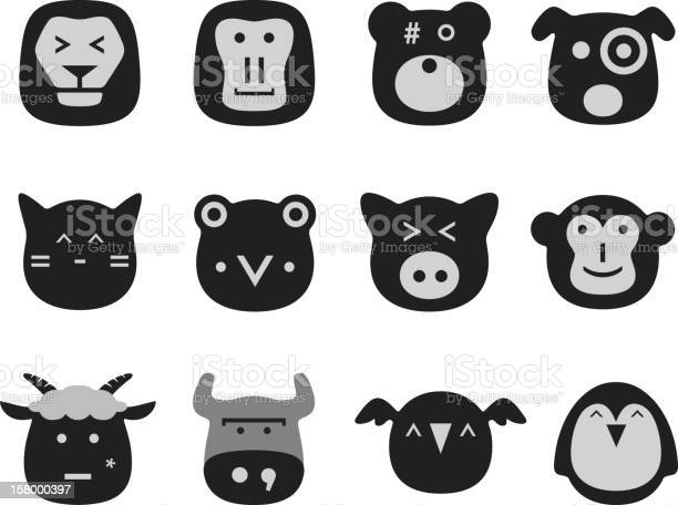 Vector collection set of animal faces vector id158000397?b=1&k=6&m=158000397&s=612x612&h=3zr vko6ejp3 jg4oy6kpbjeojfcf7mdm ownvs158s=