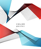 Vector color abstract geometric banner with triangle. For brochure, pocter, leaflet design