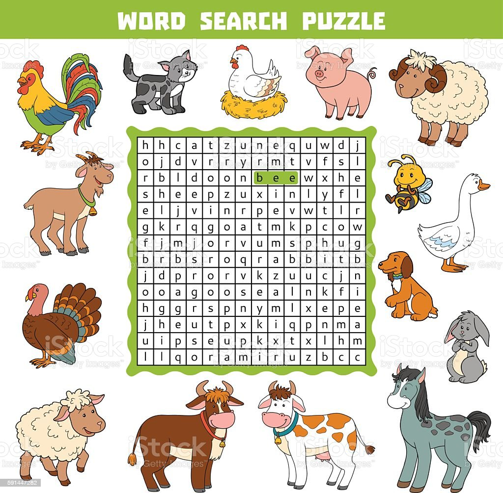 vector color crossword about farm animals word search puzzle stock rh istockphoto com Girl Crying Clip Art Eavesdropping Clip Art Girls