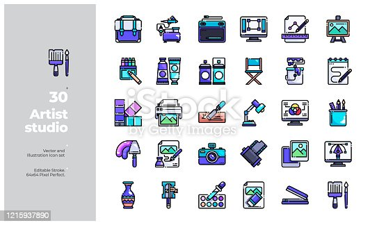 Vector Icon and Illustration Design. All Icon design based on 64x64 Editable Stroke. Design for Website, Mobile App and Printable Material. Easy to Edit & Customize.