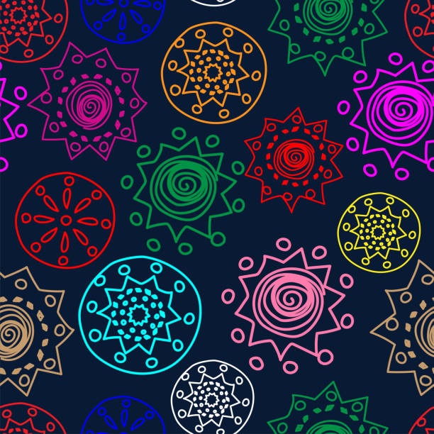 Vector Color. Perforated patterns Papel Picado pattern, hand-drawn solid laces. Hispanic Heritage Month. Polygonal seamless pattern for web banner, poster, cover, splash, social network. Vector Color. Perforated patterns Papel Picado pattern, hand-drawn solid laces. Hispanic Heritage Month. Polygonal seamless pattern for web banner, poster, cover, splash, social network. hispanic heritage month stock illustrations