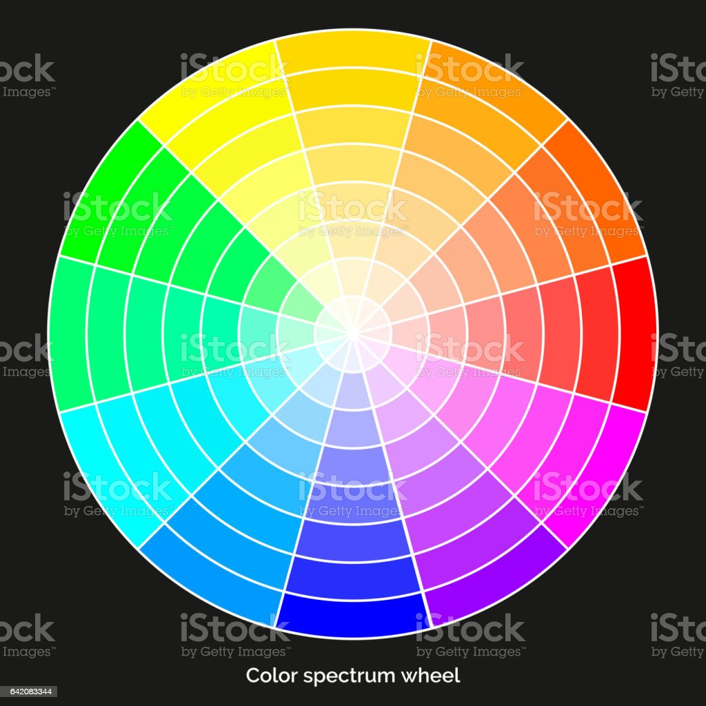 Vector Color Spectrum RBG Palette On Black Background Royalty Free