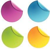 vector color sticker