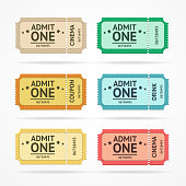 Vector color tickets set