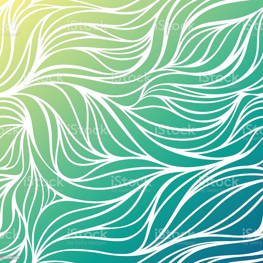 Vector color wave sea background. Blue abstract ocean texture. vector art illustration